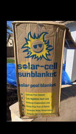 Thermal Pool Sun2Solar Blue 16-Foot-by-24-Foot Rectangle Solar Cover   1200 Series Style   Heating Blanket for In-Ground and Above-Ground Rectangular for Sale in Phoenix, AZ