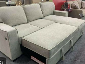 Darton Cream Sleeper Sectional with Storage♦️$39 Down Payment 100 Days Same As Cash2 for Sale in Austin,  TX
