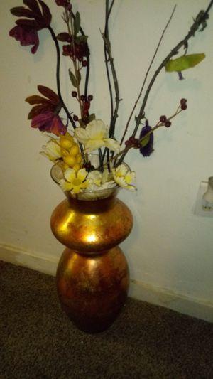 Beautiful gold floor model vase for Sale in Philadelphia, PA