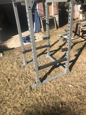 Squat rack with bench and weights for Sale in Loganville, GA