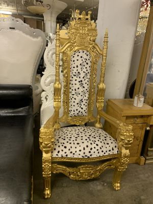 Beautiful lion throne chair.$1800. Best offer for Sale in Brooklyn, NY