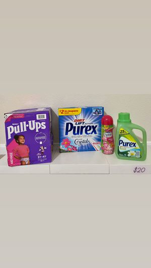 Purex and Huggies Pull• Ups 48 count unites bundle for Sale in Spring, TX