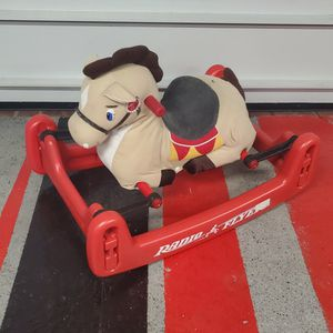RADIO FLYER TODDLER SOFT ROCK & BOUNCE PONY W/ SOUND ROCKING HORSE for Sale in Morton Grove, IL