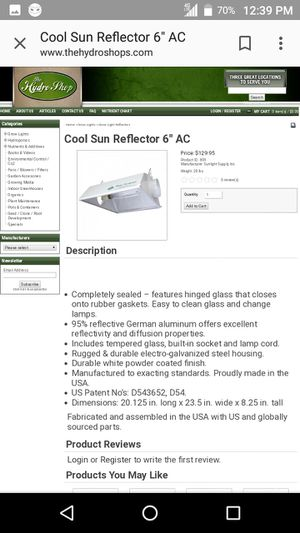 Cool sun reflector for growing... for Sale in Portland, OR