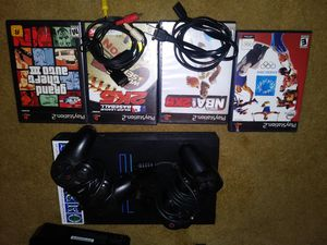 Ps2 2 controllers 4 games all cords for Sale in Oxon Hill, MD