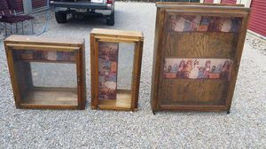 Vintage Wood and Glass Displays (Sold Individually) for Sale in Amherst, OH