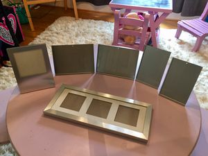 6 Metal Crate & Barrel Modern Picture Frames 🖼- Excellent Condition! for Sale in Buford, GA