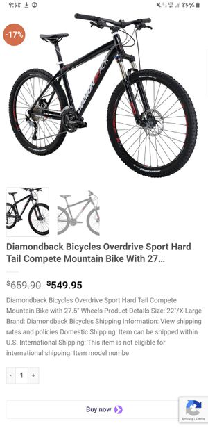 Diamondback overdrive sport hardtail mountain bike 7 and 1/2 inch tires for Sale in Portland, OR