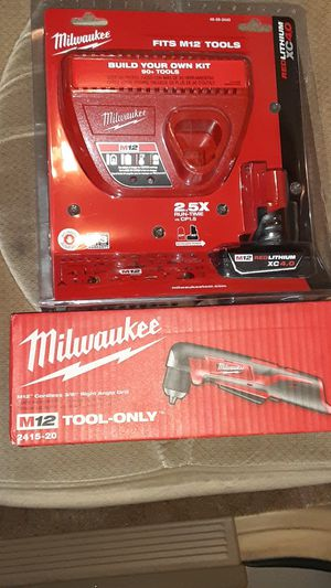 """Milwaukee M12 3/8"""" right angle drill with charger and 4.0 battery for Sale in Sacramento, CA"""