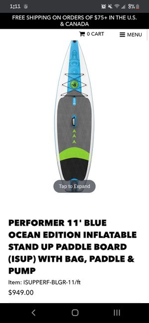 Body glove inflatable paddleboard for Sale in Denver, CO