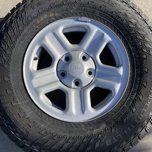 5 brand new Nokian Hakkapeliita LT3 LT235/85R16 tires on Jeep 16x7 wheels for Sale in Denver, CO