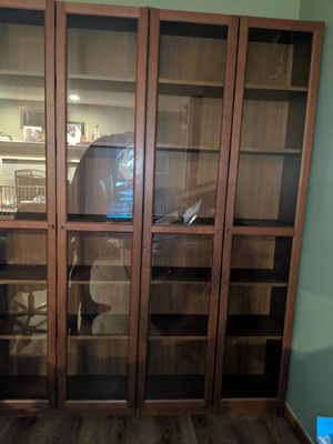 Bookshelves, Ikea, with glass doors for Sale in Kenmore, WA
