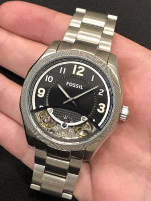 $275 - Fossil Automatic Men's All Solid Steel Luxury Watch Authentic for Sale in Queens, NY