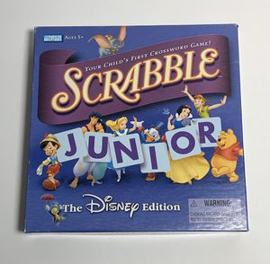 Scrabble Junior Game THE DISNEY EDITION Parker Brothers Ages 5 + Hasbro for Sale in Fort McDowell, AZ