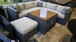 Brand New Ashley Outdoor Patio Furniture sectional Sofa and ottoman and firepit for Sale in San Lorenzo, CA