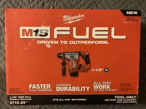 """MILWAUKEE M18 FUEL 1-1/8""""HAMMER DRILL for Sale in Fontana, CA"""