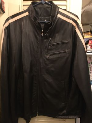 New large leather riding jacket only $45 firm for Sale in Severn, MD