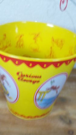 RARE Curious George Tin Pail / Bucket by Schylling - Universal Studios for Sale in Fresno,  CA
