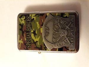 New camoflague special forces windproof oil lighter similar to zippo for Sale in Lancaster, OH