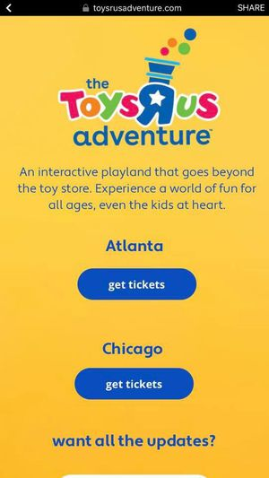 Toys R Us Adventures Tickets 🥰 for Sale in Chicago, IL