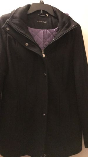 Women's Calvin Klein Wool Jacket with Hoodie for Sale in Romeoville, IL