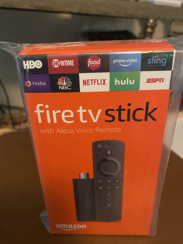 AMAZON FIRE TV STICK … with Alexa. New in box