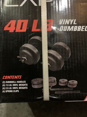 40 lbs dumbbell set for Sale in Warren, MI