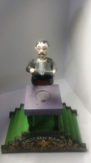 Vintage Magician Mechanical Bank from Book of Knowledge for Sale in Las Vegas, NV