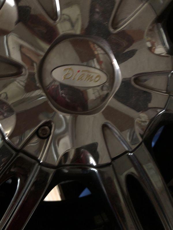 "Diamo 20""in rims and tires complete set"