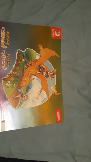 Nintendo switch exclusive Pokemon let's go Pikachu Pokemon let's go Eevee game poster for Sale in West Harrison, IN