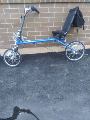 14 speed Recumbent bicycle with new tires and tubes and back pack rides great for Sale in Marysville, WA