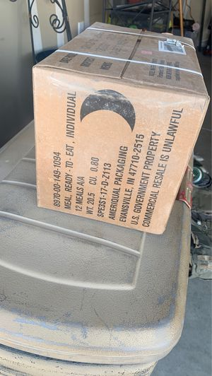 MRE box for Sale in Bakersfield, CA