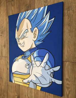 "Dragonball Z Super Saiyan Blue Vegeta Canvas 30"" X 24"" for Sale in Nutley, NJ"