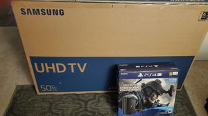 Brand New 50 Inch Smart UHD Tv & PS4 Call of Duty 1TB Bundle for Sale in Bothell, WA