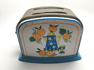 Vintage Metal Tin Toy Toaster Collectibles Oranges for Sale in Livermore, CA
