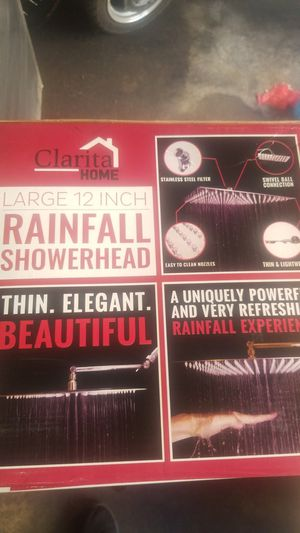 12 inch rainfall showerhead for Sale in Los Angeles, CA