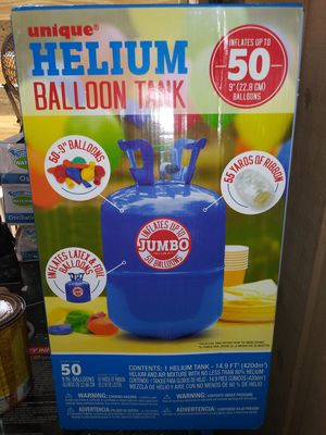 Helium in tank with valve for blowing up balloons for Sale in Tarpon Springs, FL