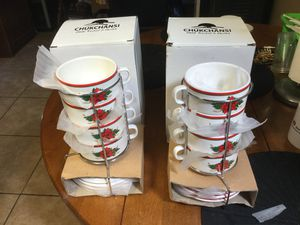 2 sets of CHUKCHANSI soup bowls new for Sale in Hayward, CA