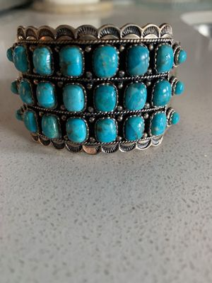 turquoise & sterling cuff for Sale in Washington, DC