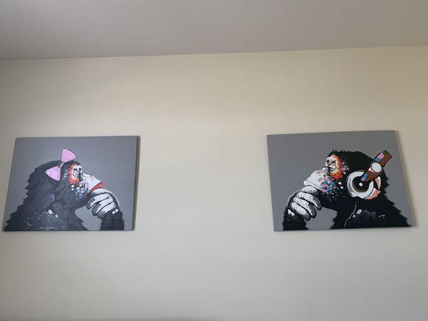 Set of wall art painting muzaroo gorrillas
