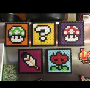 Mario Bros theme perler beads magnests for Sale in Lithia Springs, GA