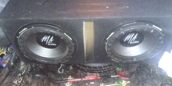 """2)12"""" M.A. Audio's subs"""