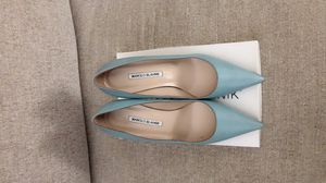 MANILO BLAHNIK Dusty Blue Heels for Sale in Duluth, GA