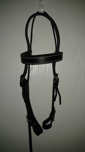 NEW black leather draft horse bridle for Sale in Norfolk, VA