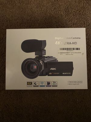 4K digital video camera for Sale in Rancho Cucamonga, CA
