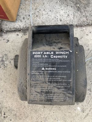 2000 lb winch AS-IS for Sale in Walnut, CA
