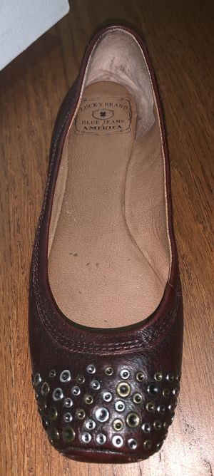 Lucky Brand Embellished Wine Leather Flats 7.5 M for Sale in Mt. Juliet, TN