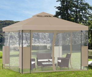 NEW Gazebo Canopy Mosquito Netting Zippered Walls Waterproof Sun Protection Outdoor Patio Garden for Sale in Chandler, AZ
