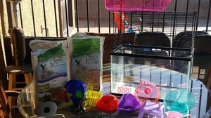 Hamster cage/fish tank/ supplies for Sale in Phoenix, AZ