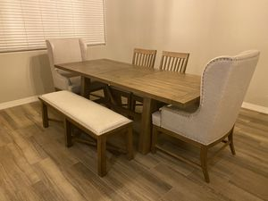 Living Spaces Dining Table Set for Sale in Peoria, AZ